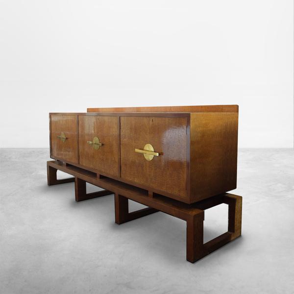 Giuseppe Terragni, Italian Mid-century Wooden Sideboard , circa 1940