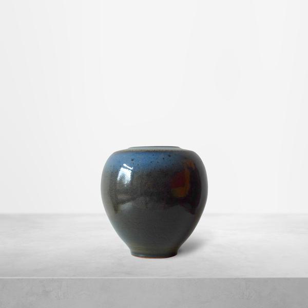 Nils Thorssen for Royal Copenhagen, Deep Blue Ceramic Vase, 1940s