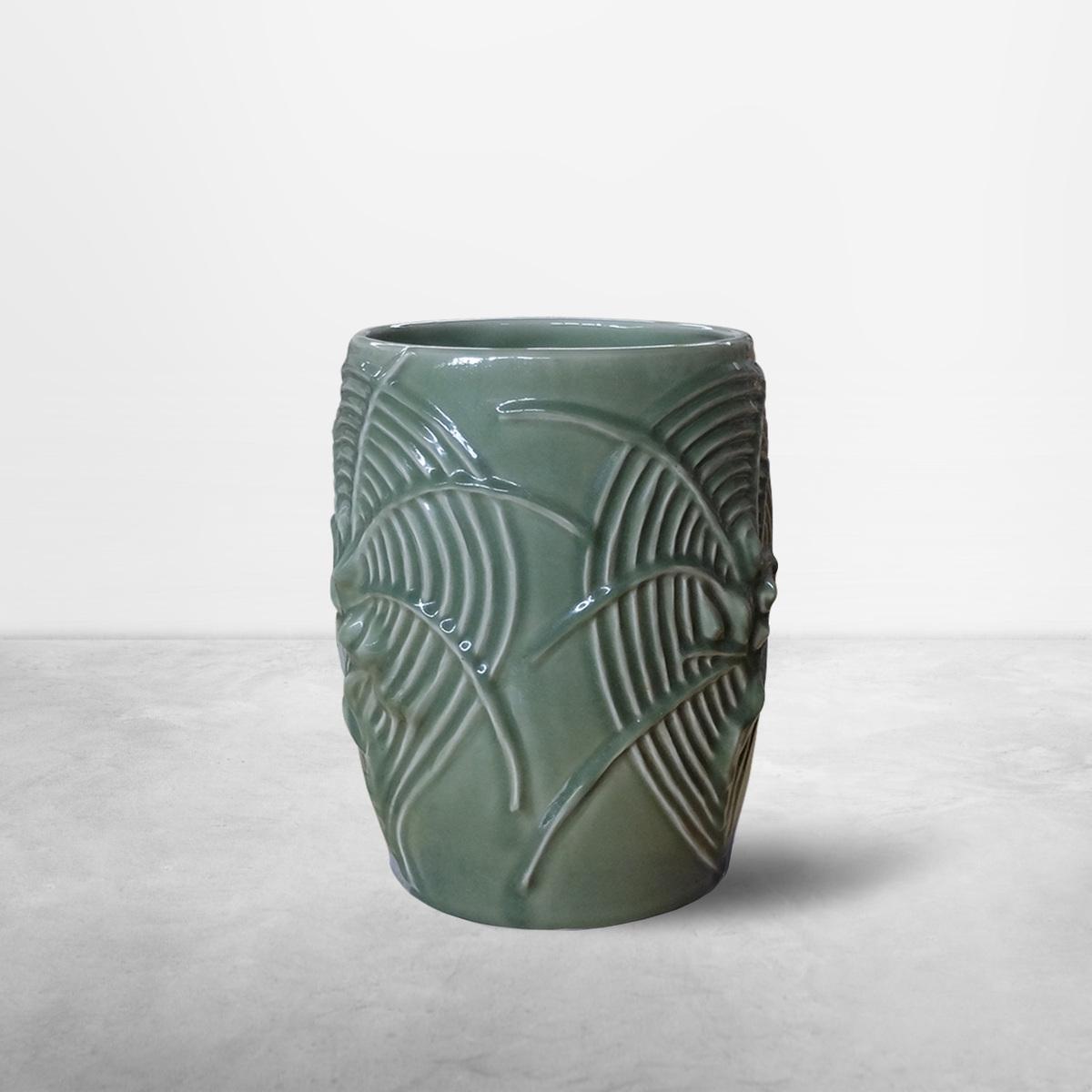 Axel Salto for Royal Copenhagen, Living Stone Ceramic Monumental Vase, 1938