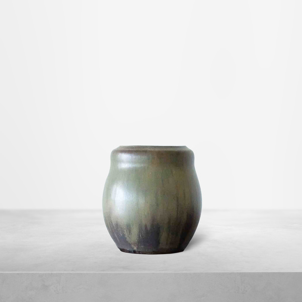 Patrick Nordstrom for Royal Copenhagen, Soft Green Ceramic Vase, 1940s