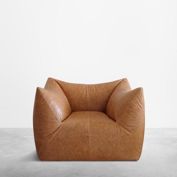 "Mario Bellini for B&B Italia, Italian Mid-Century Cognac Leather ""Le bambole"" , 1970"