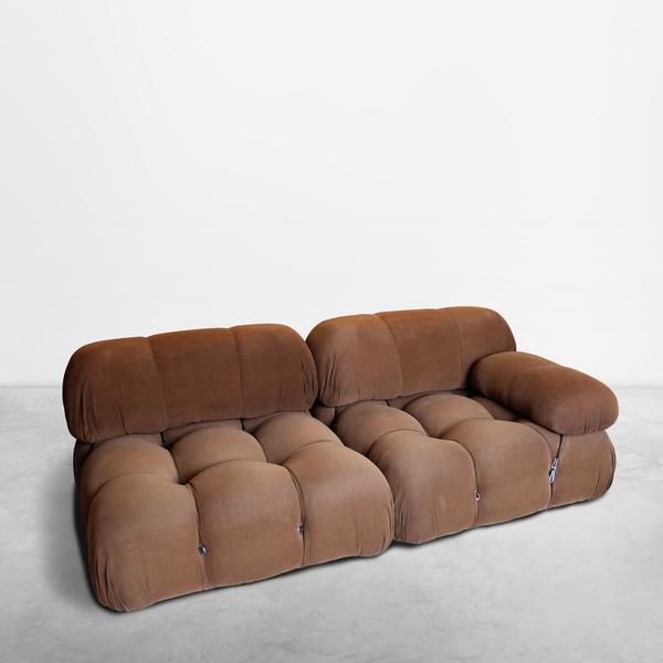 "Mario Bellini for B&B Italia, Italiana Mid-Century set of 4 ""Camaleonda"" sofas in original fabric, 1970"