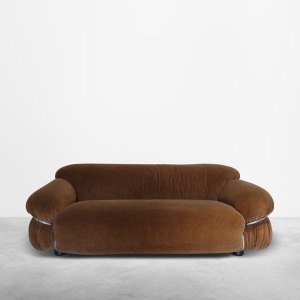 "Gianfranco Frattini for Cassina, Italian Mid-Century ""Sesann"" two seater sofa in original upholstery, 1968"