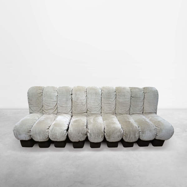 "Ueli Berger for De Sede, Italian Mid-Century model ""DS600"" modular sofa in original upholstery, 1972"
