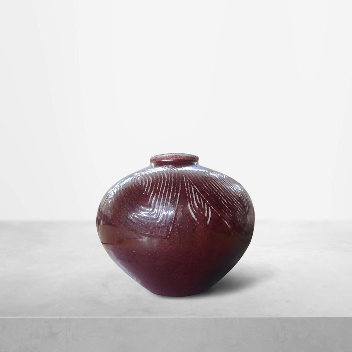 """Axel Salto for Royal Copenhagen, """"Living Stone"""" Ceramic Vase, 1952"""