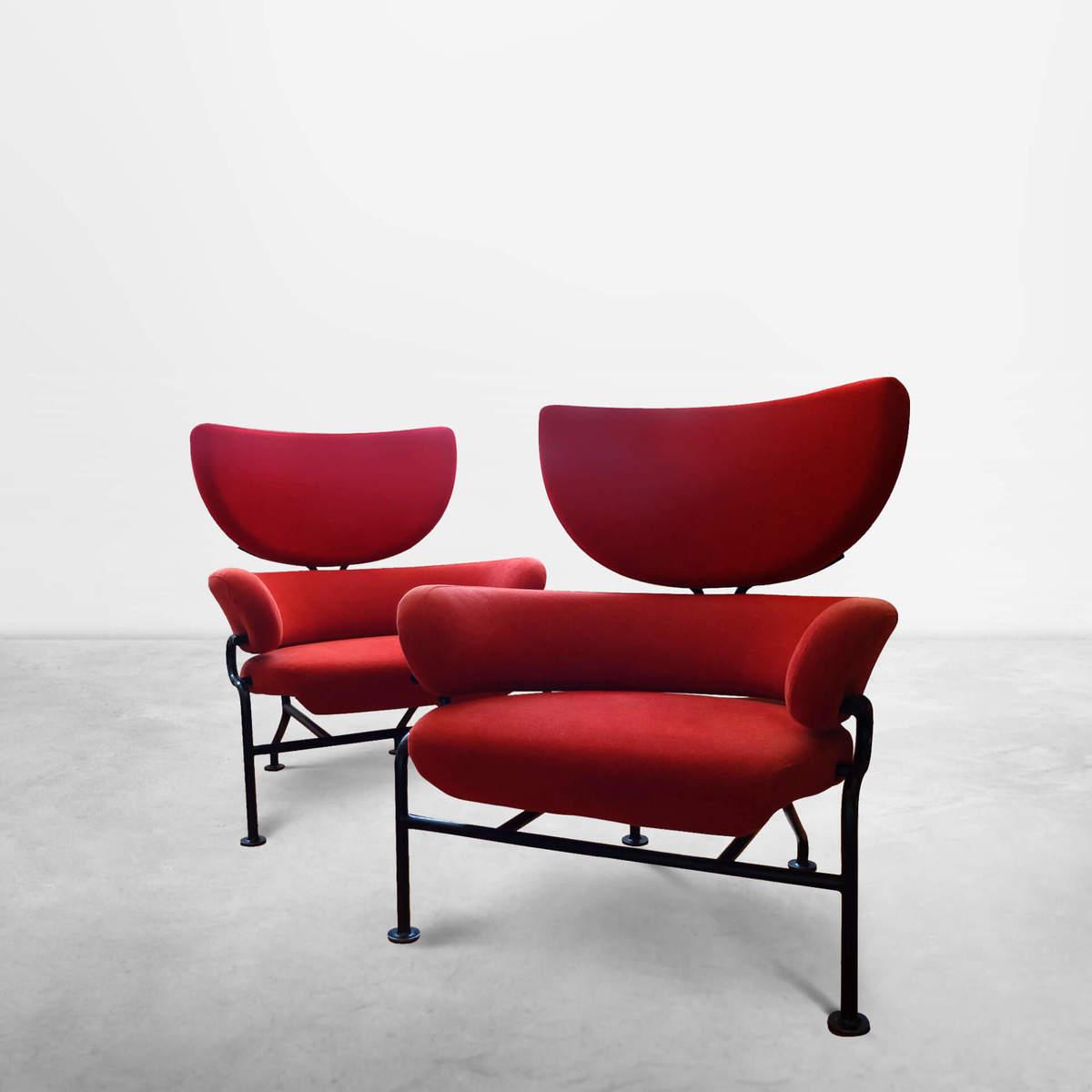 "Franco Albini & Franca Helg for Poggi, Italian Mid-Century Tre Pezzi ""Model PL19"" lounge chairs, 1959"