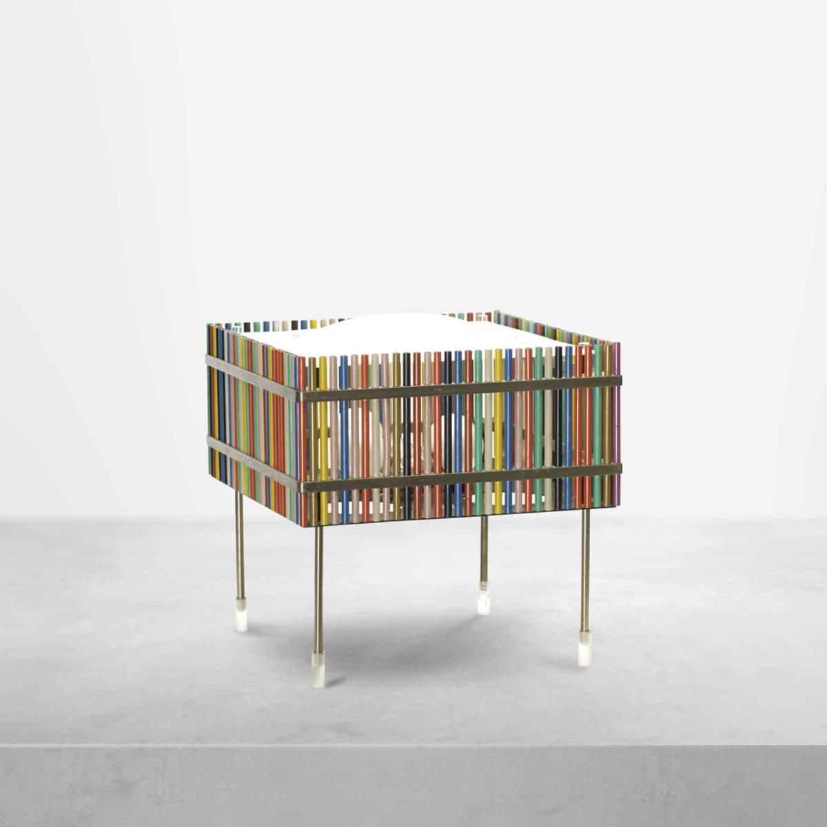 Angelo Lelli for Arredoluce, Rare Italian Mid-Century Modern Table Lamp, 1950s