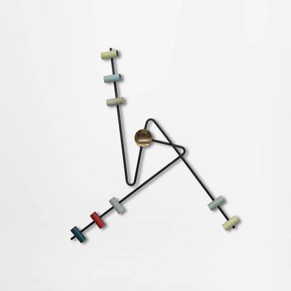 Italian Mid Century Modern sleek Stilnovo wall lamp in enameled metal, 1950s