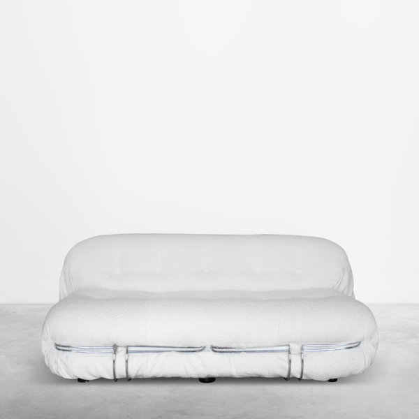 """Afra & Tobia Scarpa for Cassina, Mid-Century two seater """"Soriana"""" sofa in alpaca boucle', 1970"""