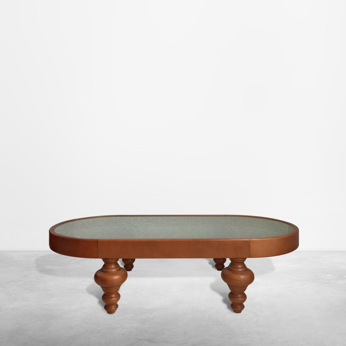 """Nanda Vigo for Vetreria Artistica Macherio, """"I Nuovi Barbari"""" Coffee Table, 1989"""