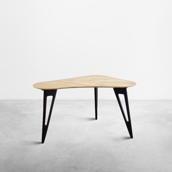 Ico Parisi, Italian Mid-Century Modern Side Table in Marble and Mahogany, 1950