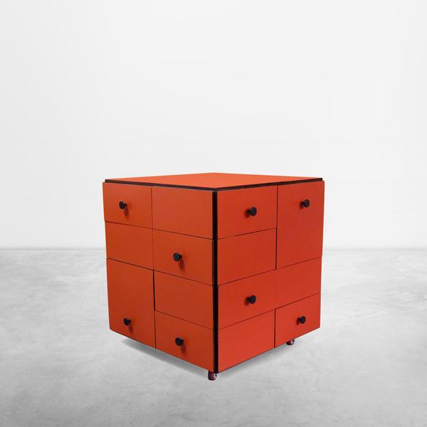 """Cini Boeri for Arflex, Rare """"Cubotto"""" Drawer 1968"""