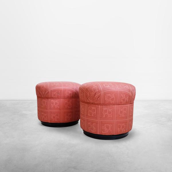 Piero Portaluppi, Set of Two Stools in original fabric, 1933, Italy
