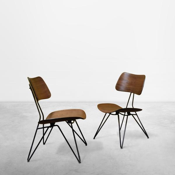 Gio Ponti and Gastone Rinaldi for RIMA, Set of 2 Wooden Model DU10 Chairs, 1951