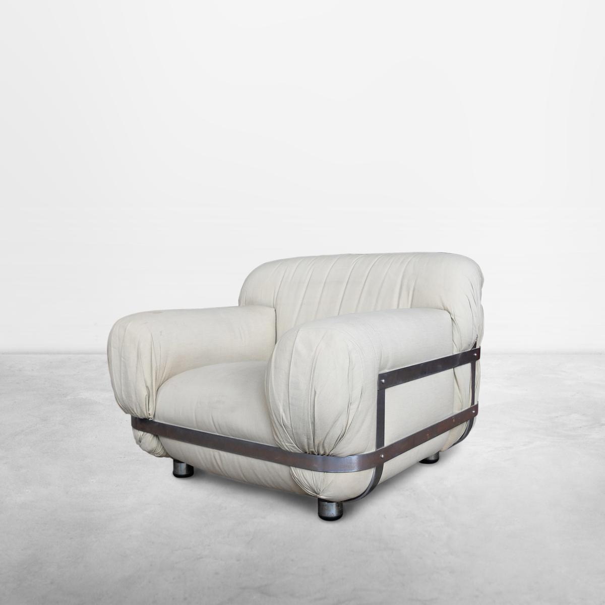 Ico Parisi, Italian Mid-Century Unique Commissioned Armchair in Leather, 1971