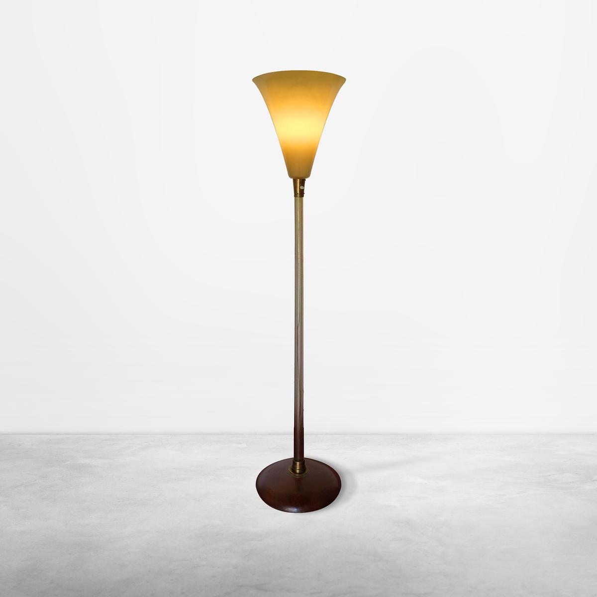 Tomaso Buzzi for Venini Murano, Italian Mid-Century Glass Floor Lamp, 1933