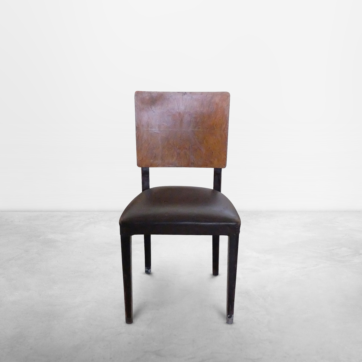 French Mid-Century Modern, Set of 4 Chairs Attributed to Andre Sornay, 1940s