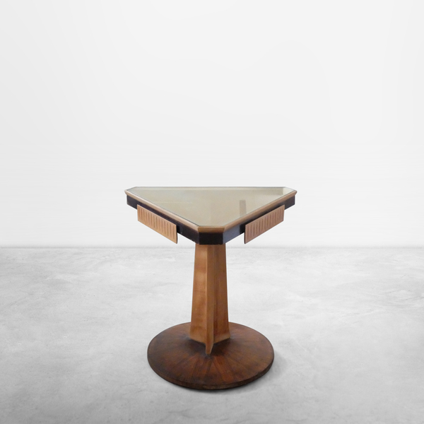 Early Italian Mid-Century unique pedestal-shaped small consolle, 1940s