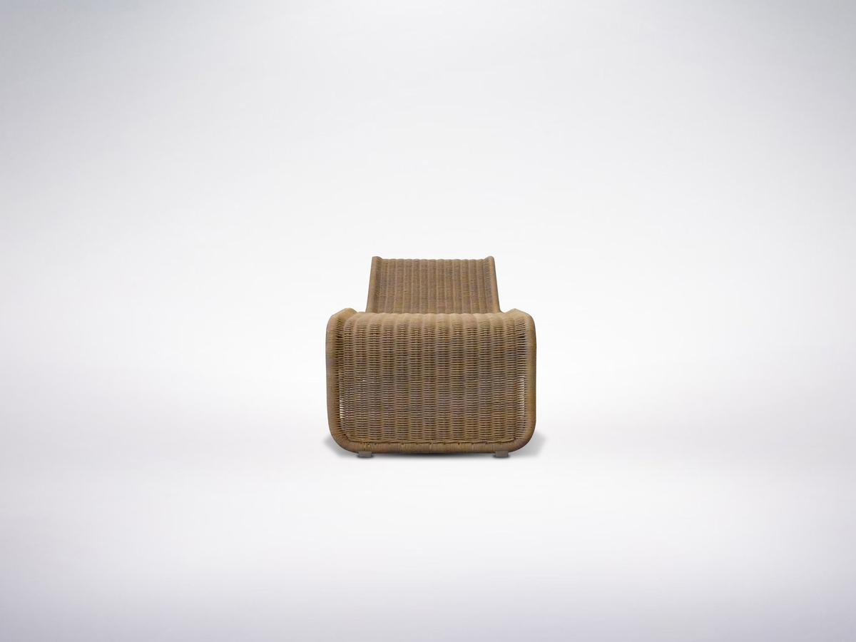 Tito Agnoli, Italian Mid-Century Modern Rattan Chaise Lounge, 1957
