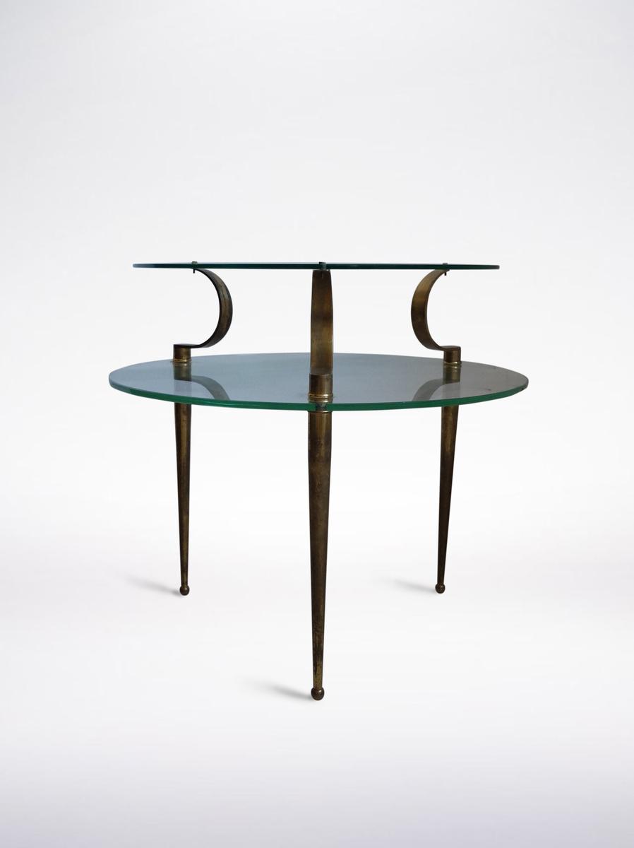 Fontana Arte, Glass and Brass Coffee Table, 1940 ca.