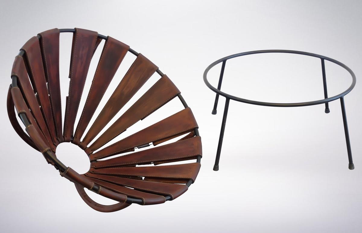 "Lina Bo Bardi, Leather ""Bowl"" chair, 1950s"
