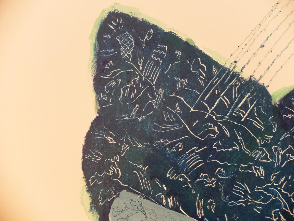 """Ugo La Pietra, """" Genius Loci' """" Acrylic on Canvas, 2018"""