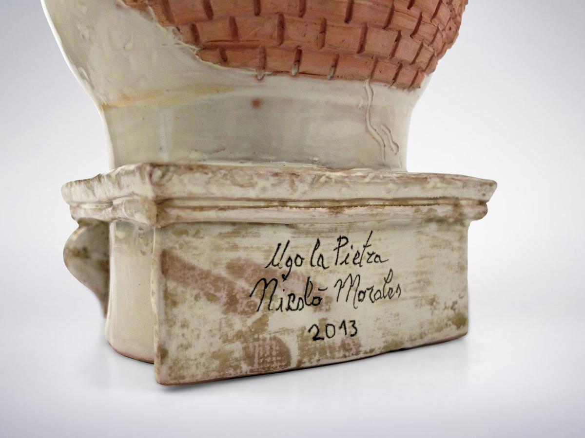 "Ugo La Pietra,  Porcelain ""Archeologo"" Vase, 2010"