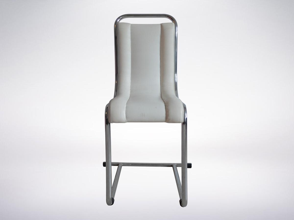 Ico Parisi for Fratelli Longhi, Italian Mid-Century Chair in Tubular Metal, 1969