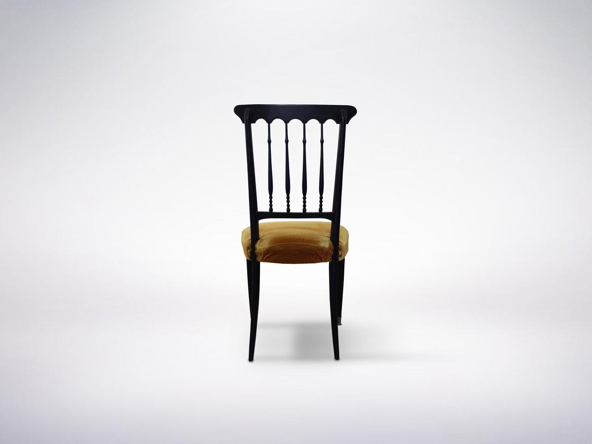 Set of Two Elegant Chiavari Chairs in Rosewood