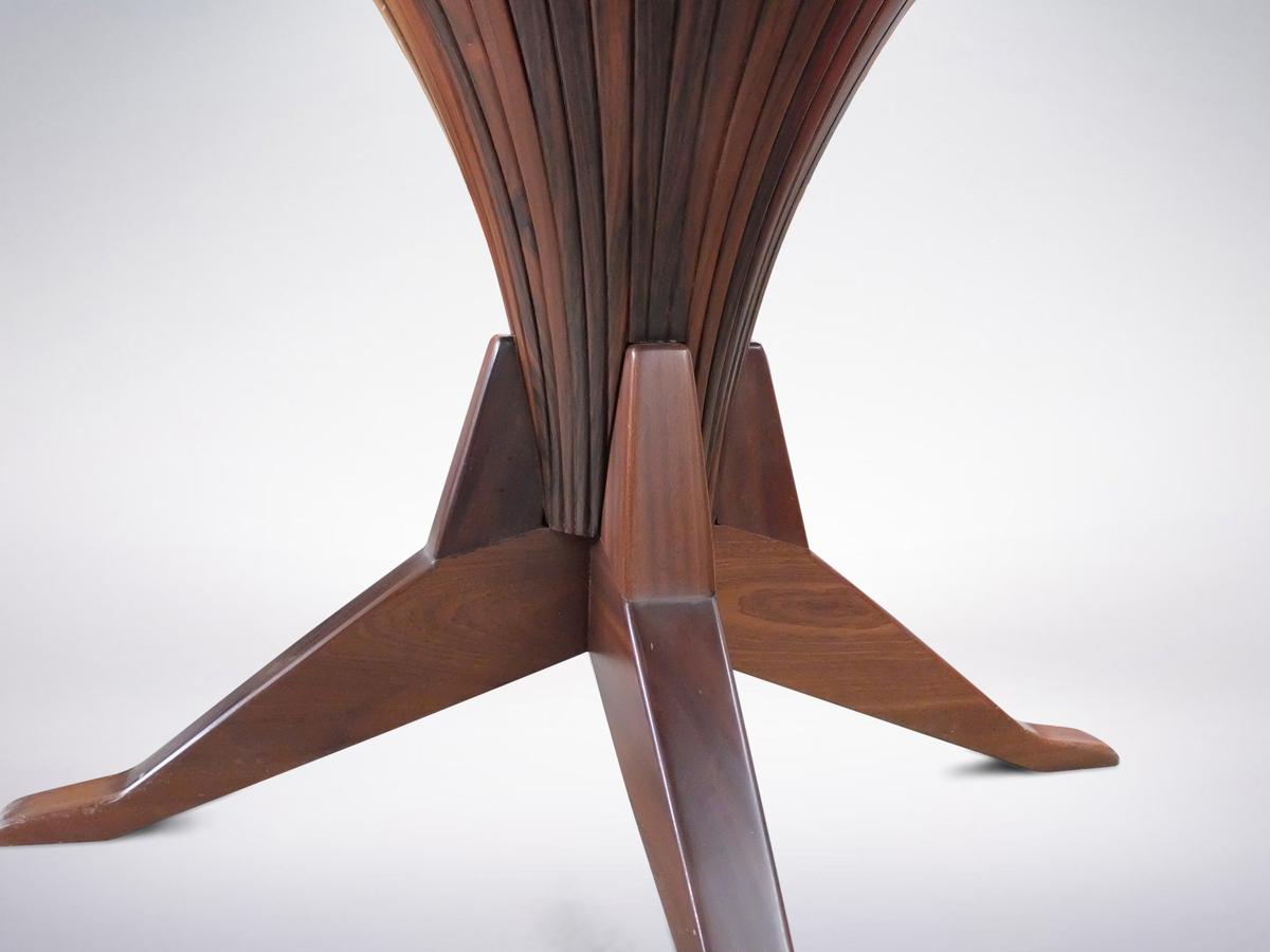 Italian Modernist Wooden Round Table, 1950s