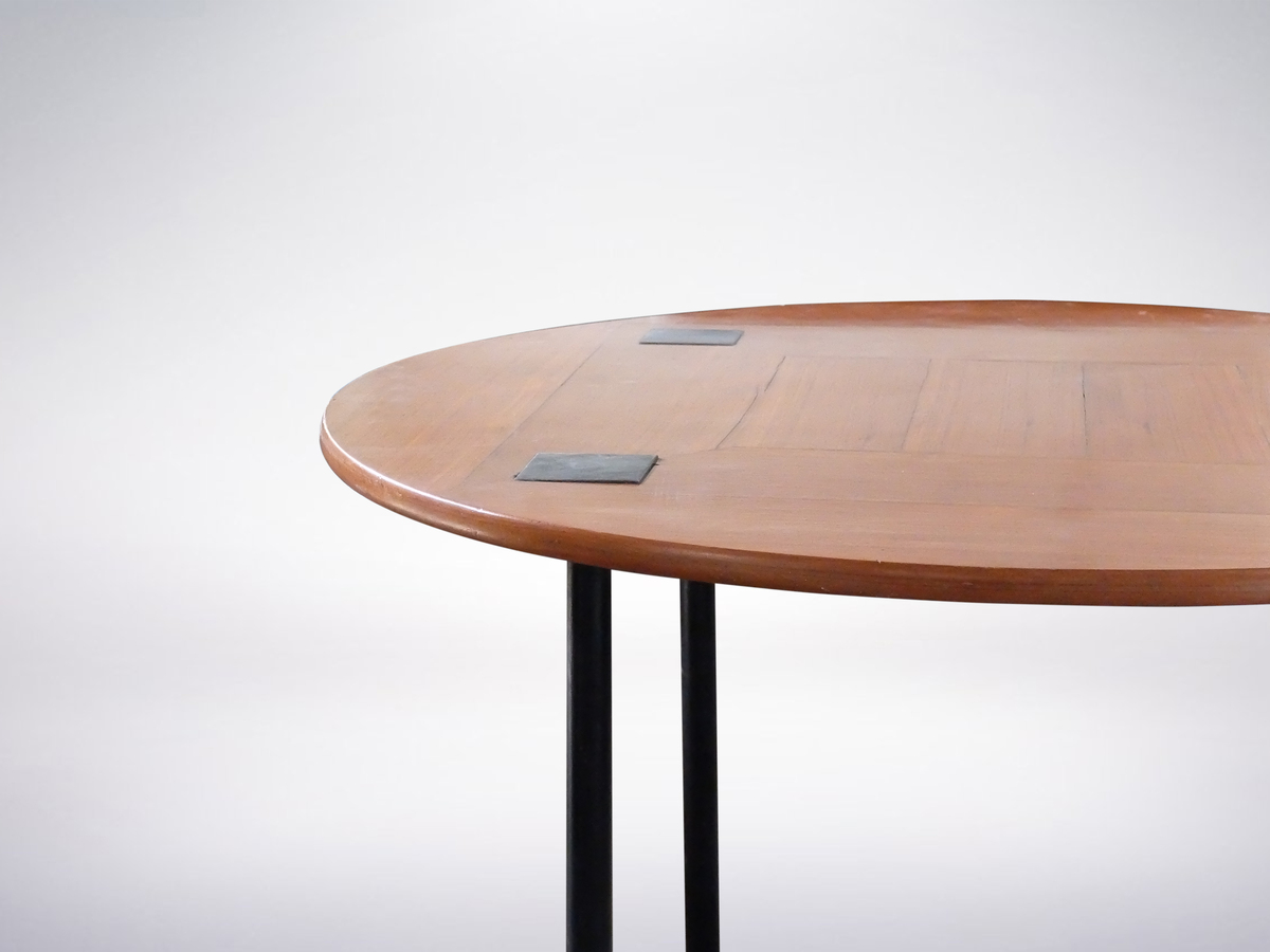 Ettore Sottsass Jr. for Poltronova, Rare Round Mahogany Dining Table, 1956