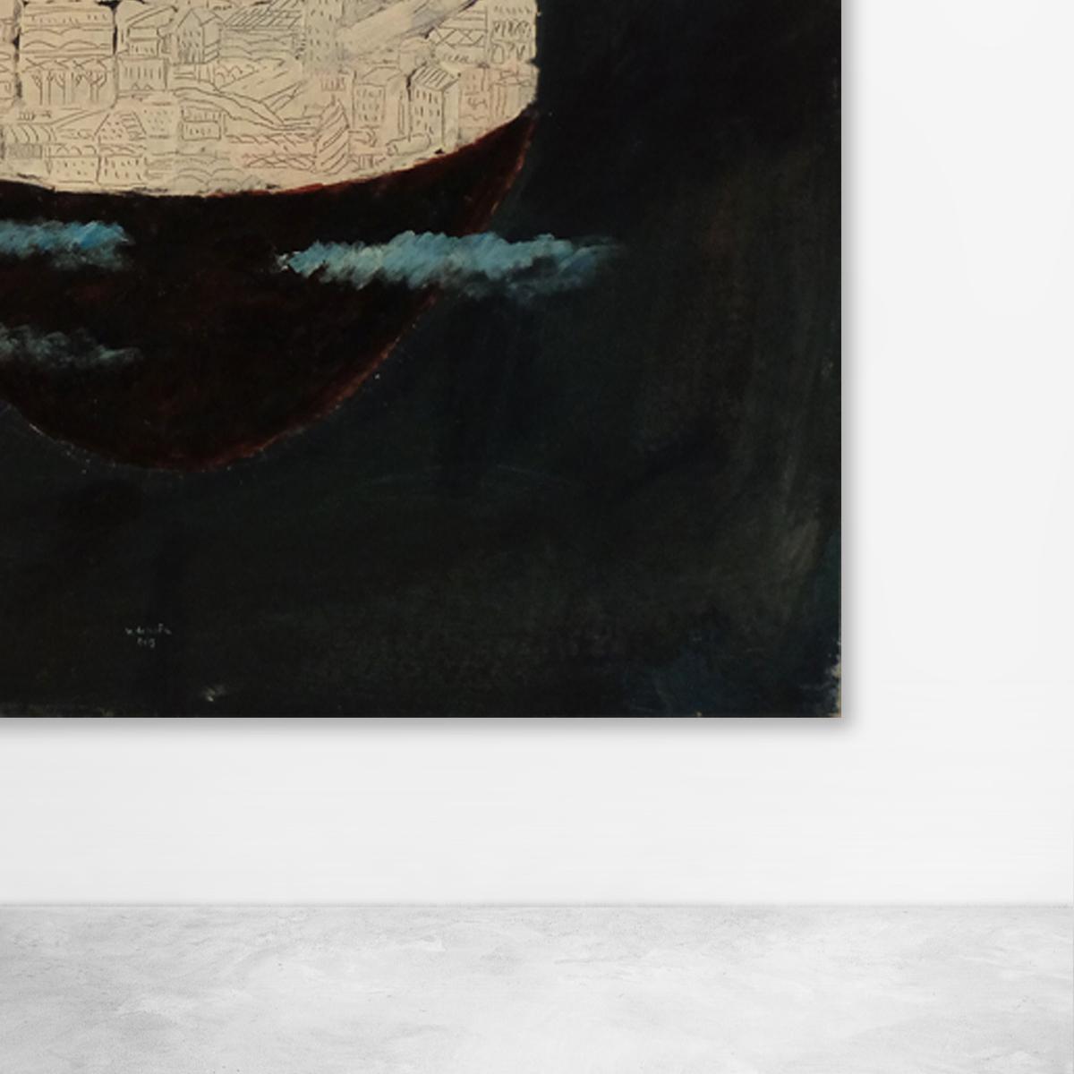 "Ugo La Pietra, "" Territorialita' "" Acrylic on Canvas, 2013"