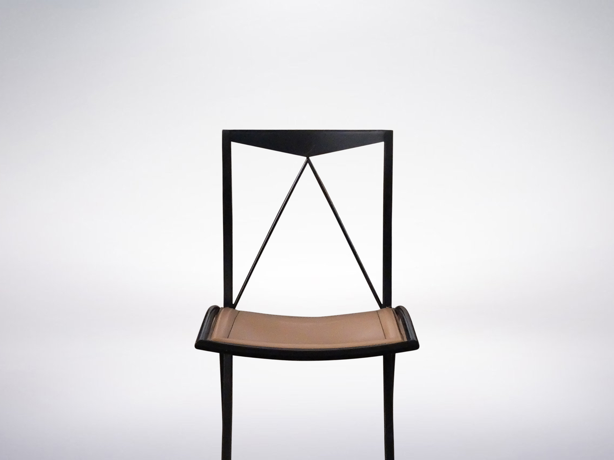 "Cattelan Italia, Set of 4 ""Bella"" Folding Chairs in Metal, 1980"