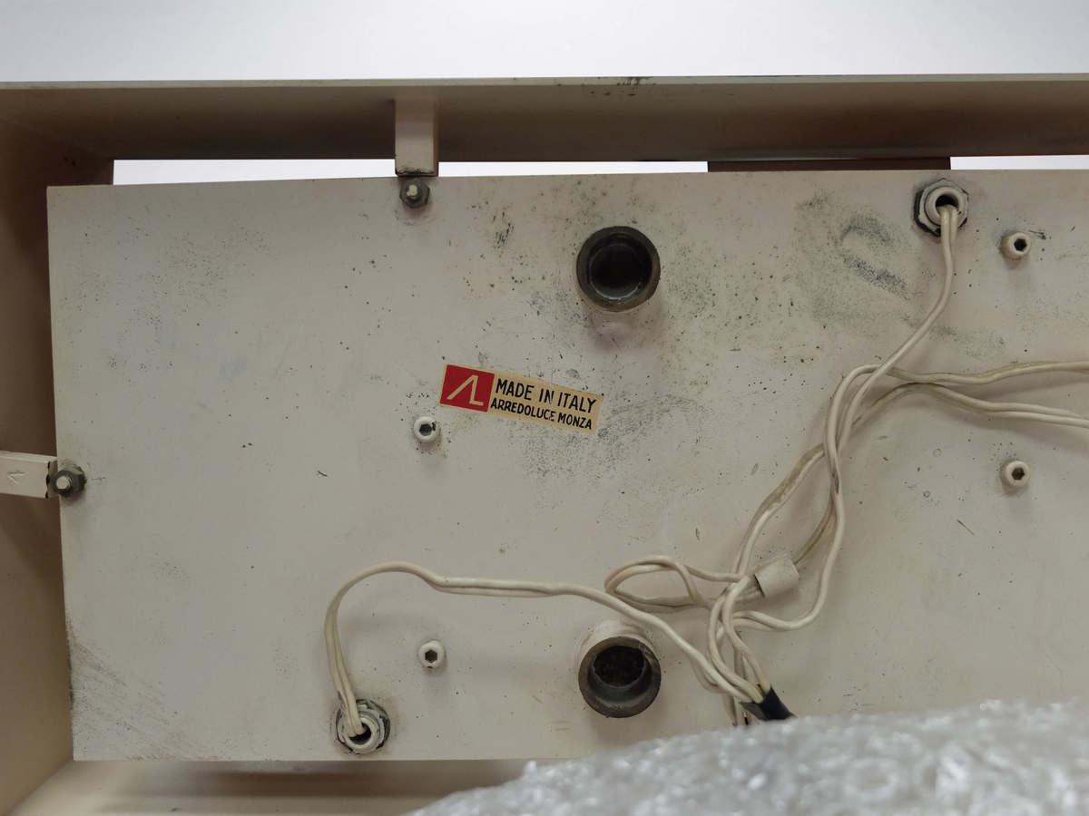 Gio Ponti for Arredoluce, rare rectangular brass applique in original conditions, 1957