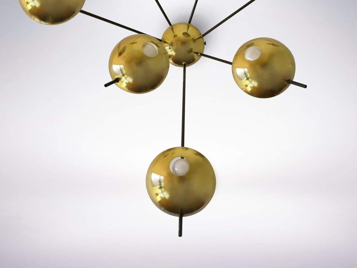 "Italian Mid-Century Stilnovo model ""1036"" brass applique, 1950s"