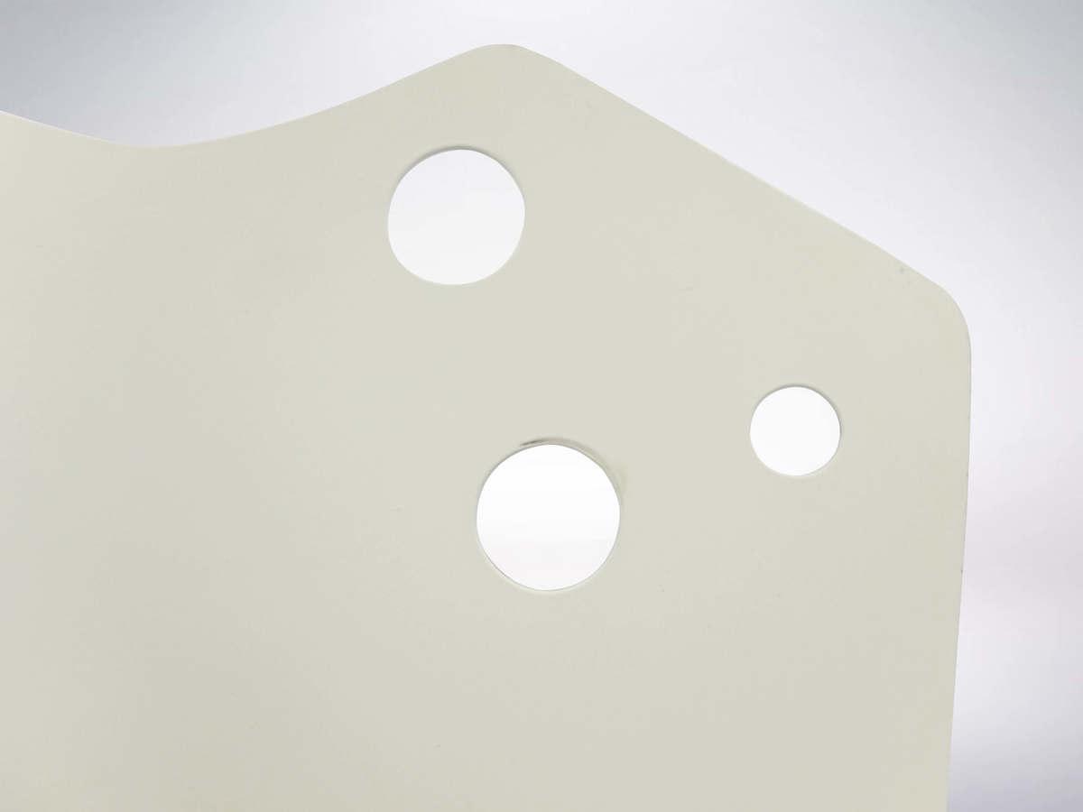 Stilnovo Attributed, Italian Mid-Century White Yellow Geometric Sconce, 1958